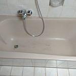 Wannentausch ohne Fliesenscahden: Badewanne Vorher
